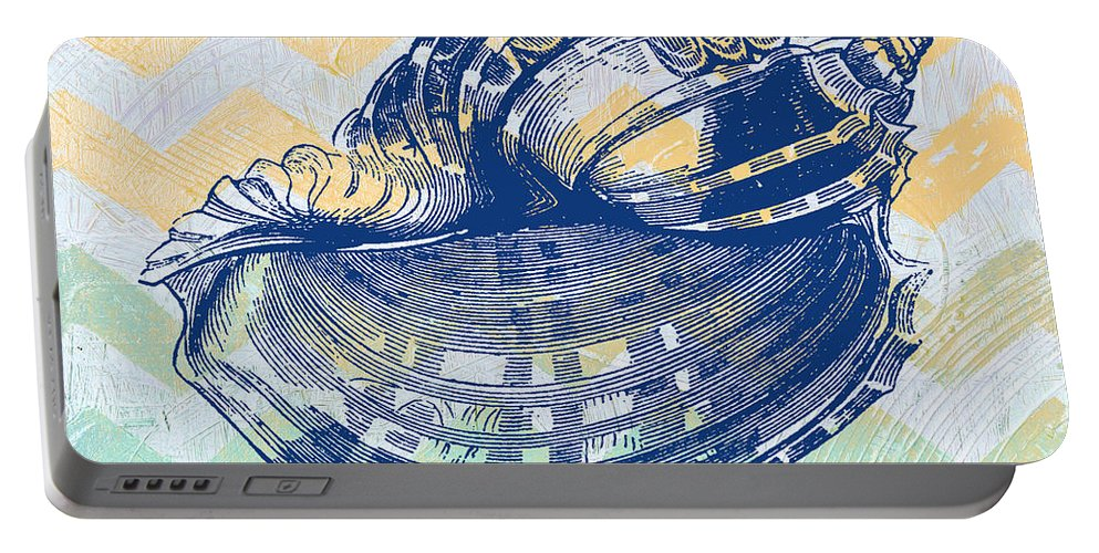 Digital Portable Battery Charger featuring the digital art Sea Shell-c by Jean Plout
