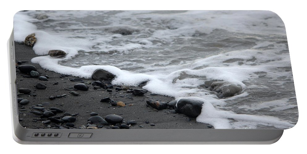 Beach Portable Battery Charger featuring the photograph Sea Foam by Stacey May