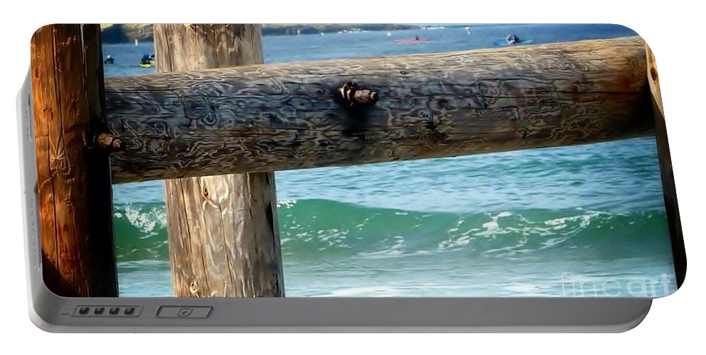 Scenic Landscape Portable Battery Charger featuring the photograph Sea Gate by Susan Garren