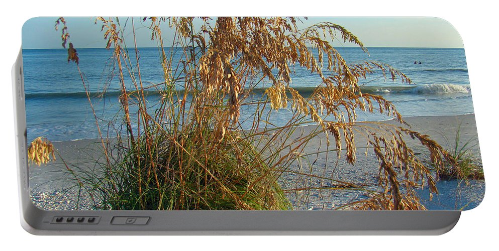 Sea Oats Portable Battery Charger featuring the photograph Sea Oats 1 by Nancy L Marshall