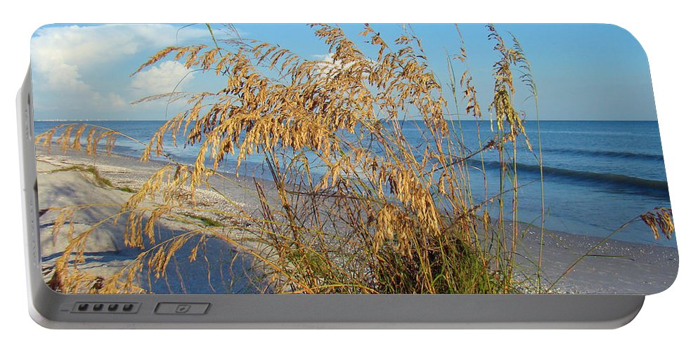 Sea Oats Portable Battery Charger featuring the photograph Sea Oats 2 by Nancy L Marshall