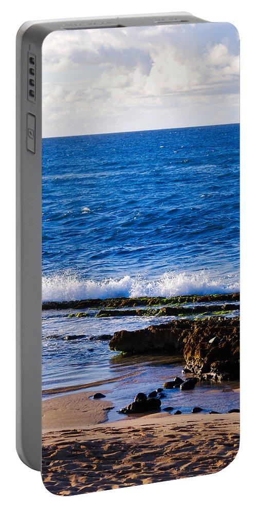 Christi Kraft Portable Battery Charger featuring the photograph Sea Shelves by Christi Kraft