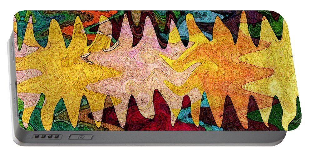 Sea Star Portable Battery Charger featuring the digital art Sea Star Parade by Gary Olsen-Hasek