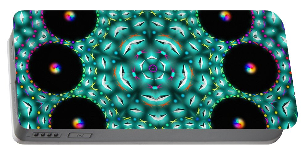 Sea Waves Portable Battery Charger featuring the digital art Sea Waves by Derek Gedney