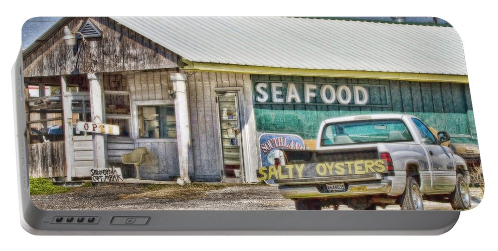 Hdr Portable Battery Charger featuring the photograph Seafood by Scott Pellegrin
