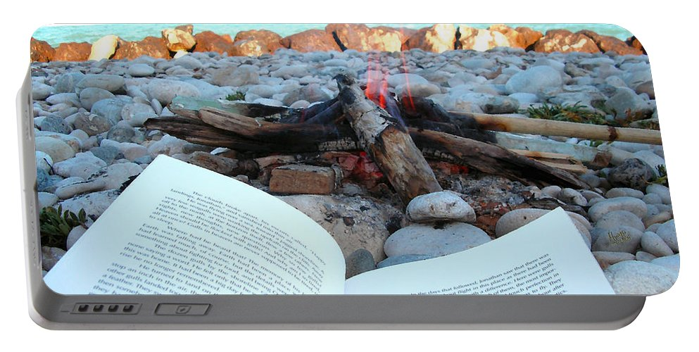 Book Portable Battery Charger featuring the photograph Seagull And Me by Marcello Cicchini