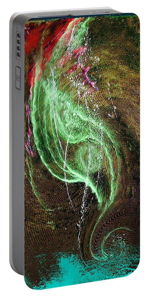Seahorse Portable Battery Charger featuring the digital art Seahorse by John Anderson