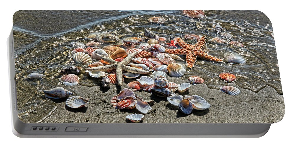 Sea Shells Portable Battery Charger featuring the photograph Seashells by Athena Mckinzie
