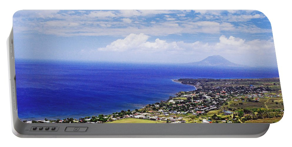Ocean Portable Battery Charger featuring the photograph Seaside Resort by Gary Wonning