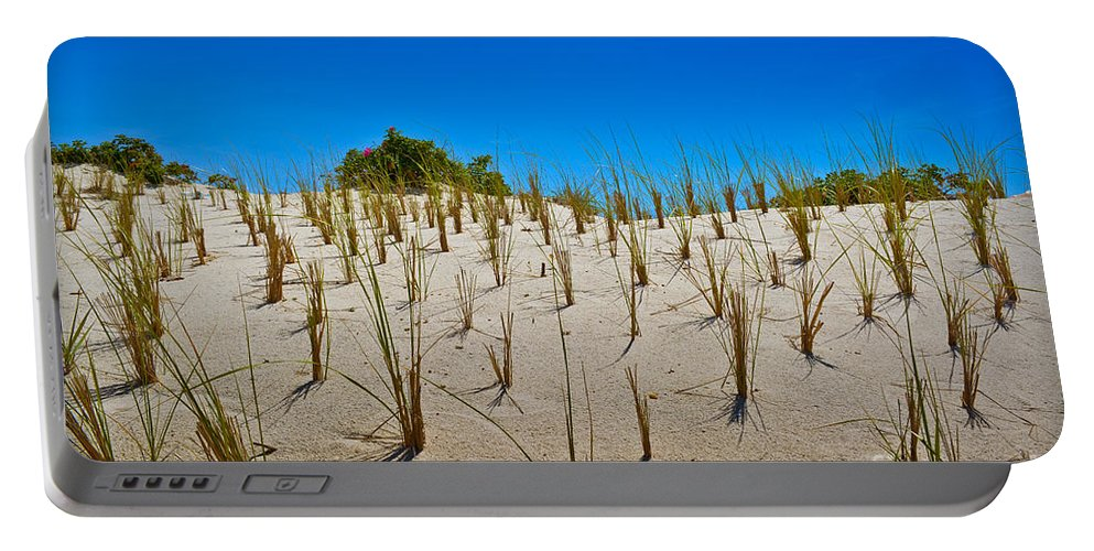 Seaside Heights Portable Battery Charger featuring the photograph Seaside Sand Dunes by Gary Keesler