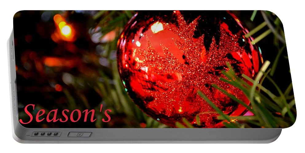 Christmas Portable Battery Charger featuring the photograph Season's Greetings by Deena Stoddard