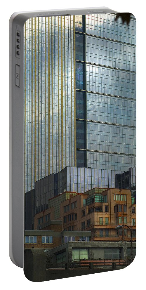 Cityscape Portable Battery Charger featuring the photograph Seattle Windows by Yulia Kazansky