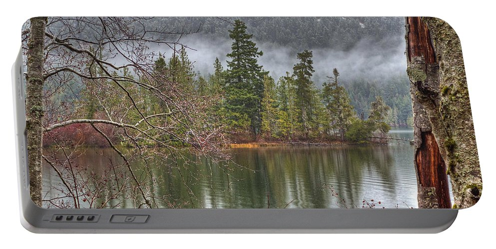 Lake Portable Battery Charger featuring the photograph Secluded Cove by Randy Hall