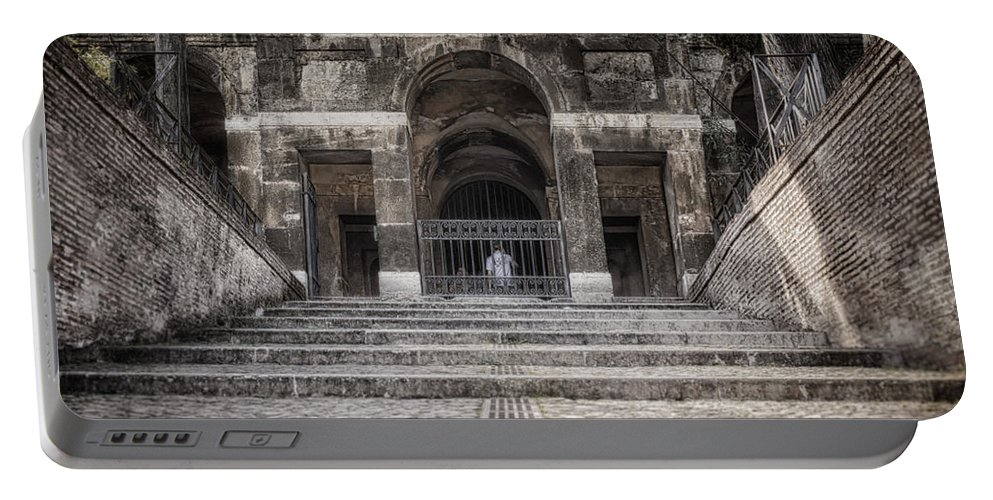 Ancient Portable Battery Charger featuring the photograph Second Time Around The Forum by Joan Carroll