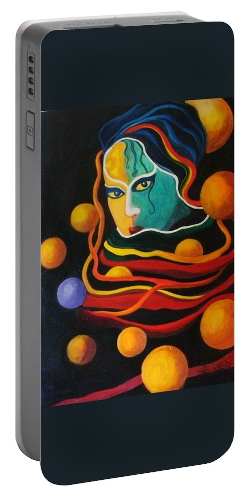 Women Portable Battery Charger featuring the painting Secrets by Carolyn LeGrand