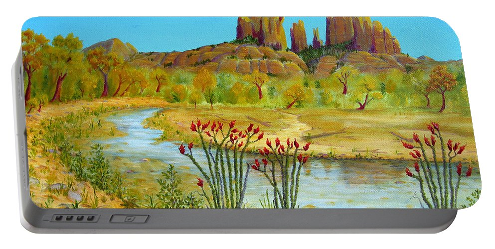Sedona Portable Battery Charger featuring the painting Sedona Arizona by Jerome Stumphauzer