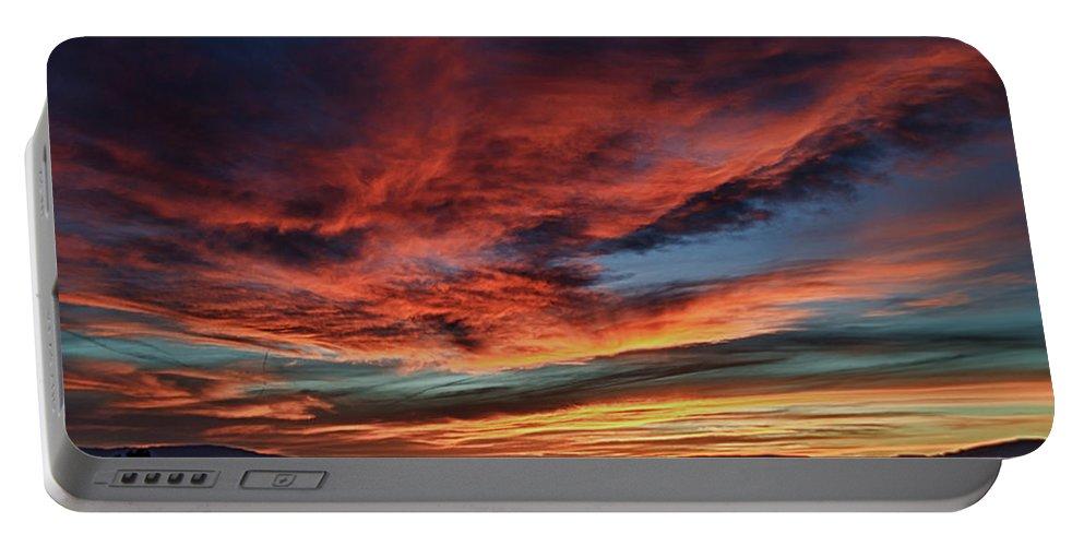 Sedona Az Portable Battery Charger featuring the photograph Sedona Az Sunset 1 by Ron White