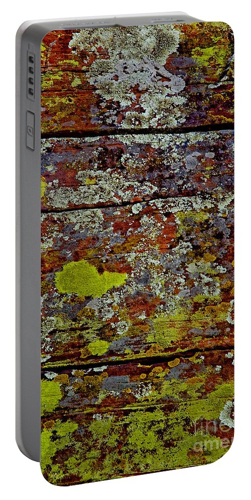 Sedona Carpet Photograph Is Of Lichen Growing On Rocks Portable Battery Charger featuring the photograph Sedona Carpet by Mae Wertz