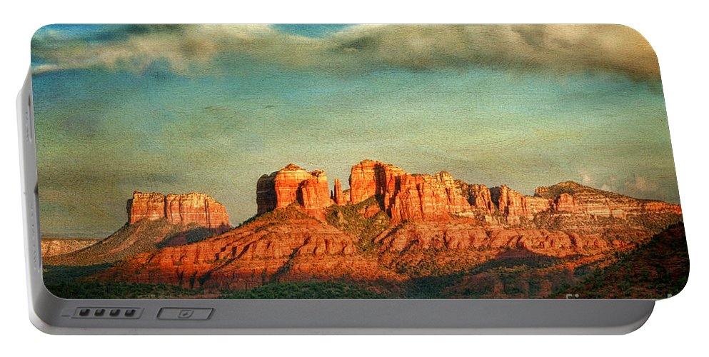 Sedona Portable Battery Charger featuring the photograph Sedona Evening by Claudia Kuhn