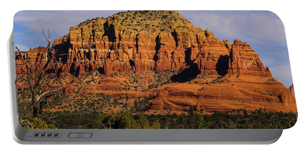 Pennysprints Portable Battery Charger featuring the photograph Sedona Rock Formations by Penny Lisowski