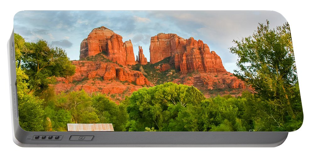 Arizona Portable Battery Charger featuring the photograph Sedona Serenity by Nicholas Pappagallo Jr
