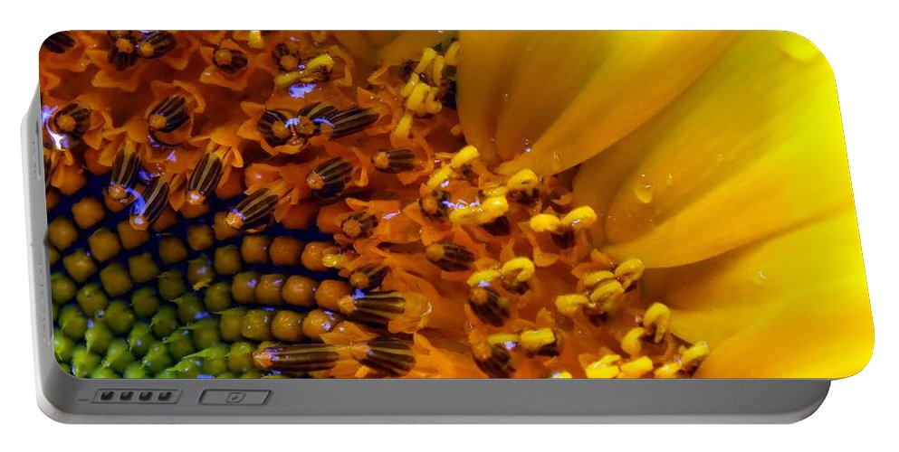 Yellow Portable Battery Charger featuring the photograph Seeds Of Sunshine by Karen Wiles