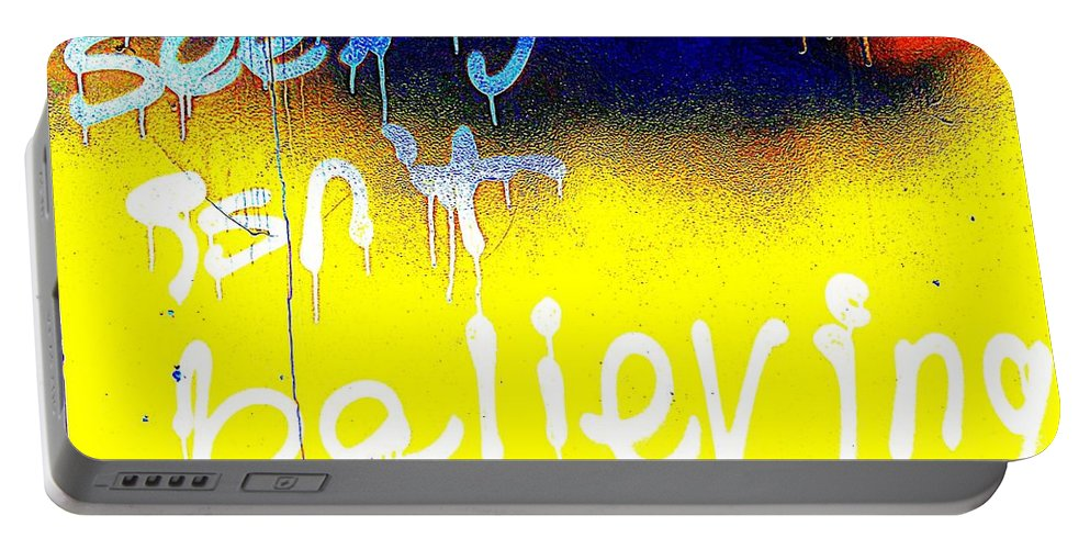 Pop Art Portable Battery Charger featuring the photograph Seeing Isn't Believing by Ed Weidman