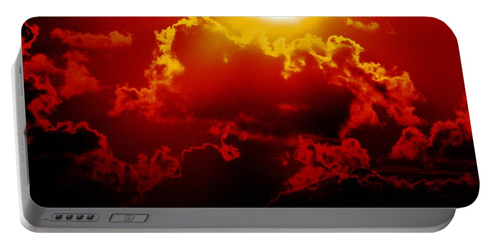 Sunset Portable Battery Charger featuring the photograph Seeing Red by Lizi Beard-Ward