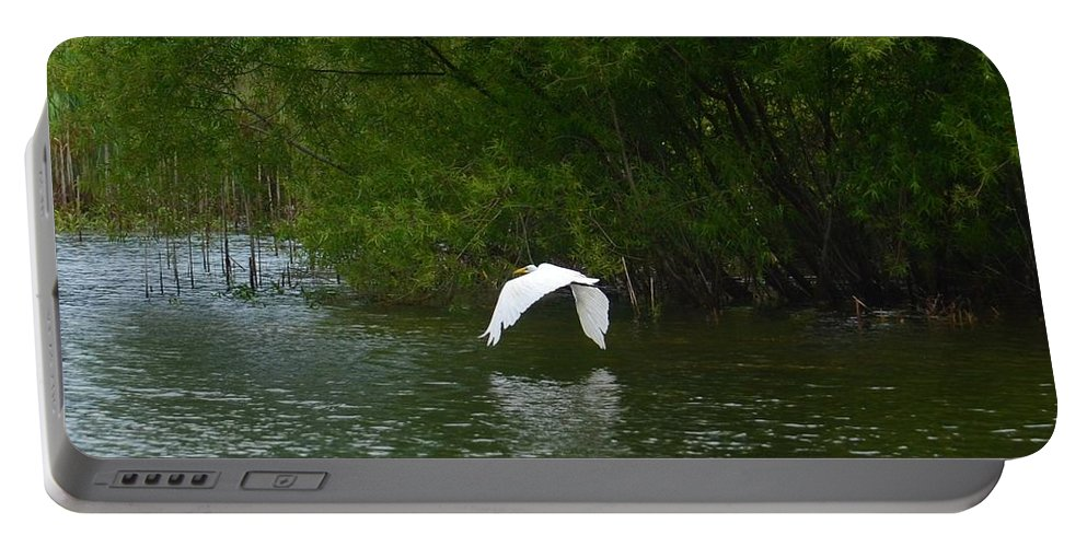 Seeking Solitude Portable Battery Charger featuring the photograph Seeking Solitude by Maria Urso
