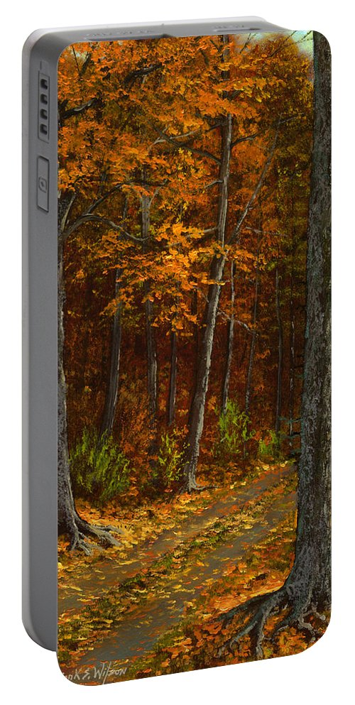 Landscape Portable Battery Charger featuring the painting Seldom Used by Frank Wilson