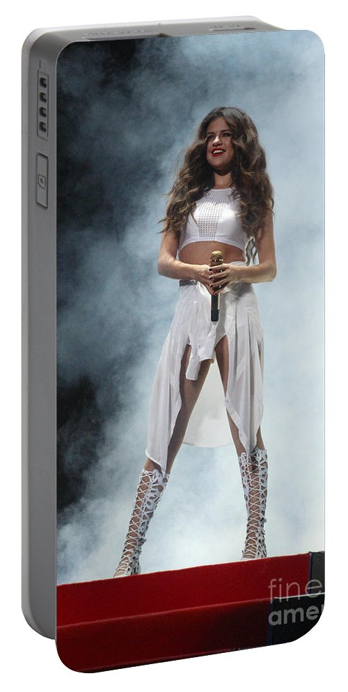 Selena Gomez Portable Battery Charger featuring the photograph Selena Gomez-8648 by Gary Gingrich Galleries