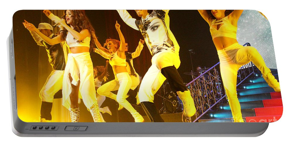 Selena Gomez Portable Battery Charger featuring the photograph Selena Gomez-8707 by Gary Gingrich Galleries