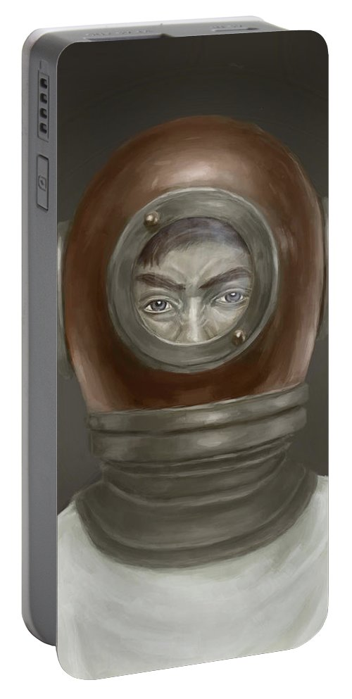 Digital Portable Battery Charger featuring the digital art Self Portrait by Balazs Solti