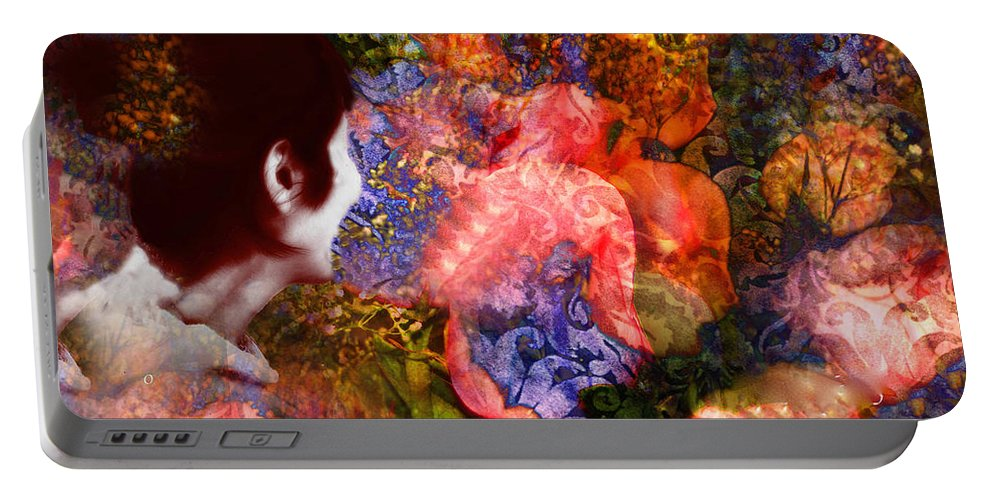 Art Portable Battery Charger featuring the painting Girl Looking Toward Future by Femina Photo Art By Maggie