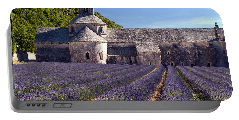 Sénanque Abbey Portable Battery Charger featuring the photograph Senanque Abbey by Bob Phillips