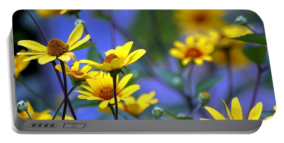 Flowers Portable Battery Charger featuring the photograph Sensational Summer by Living Color Photography Lorraine Lynch