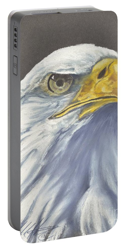 Wildlife Portable Battery Charger featuring the pastel Sentinal by John Huntsman