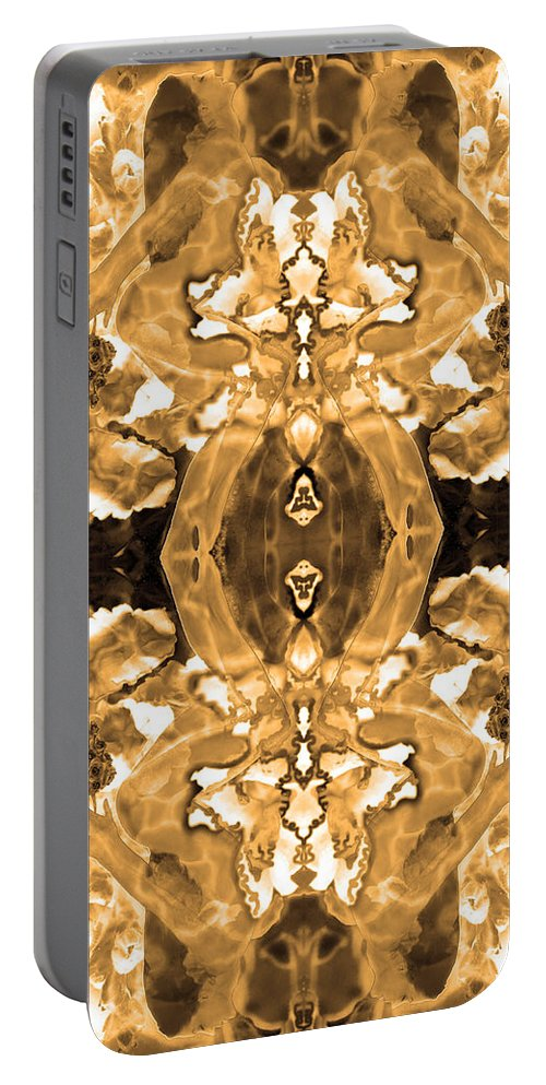 Copper Tones Portable Battery Charger featuring the photograph Sepia Bag Fairies 4 by Deprise Brescia