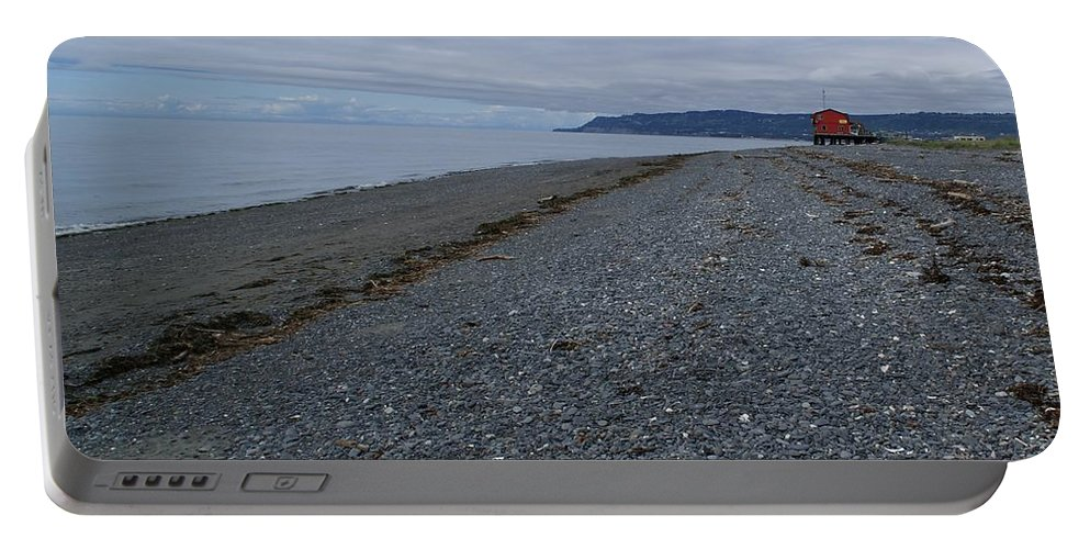 Alaska Beach Portable Battery Charger featuring the photograph Serenity At The Beach by Patricia Twardzik