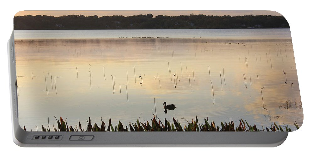 Pond Portable Battery Charger featuring the photograph Serenity by Irina Davis