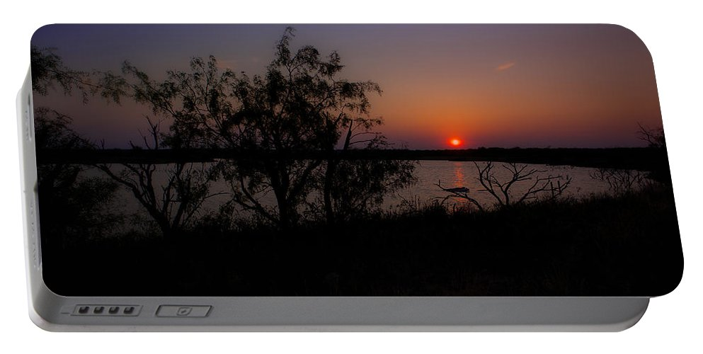 Sunset Portable Battery Charger featuring the photograph Serenity by Kelli Brown