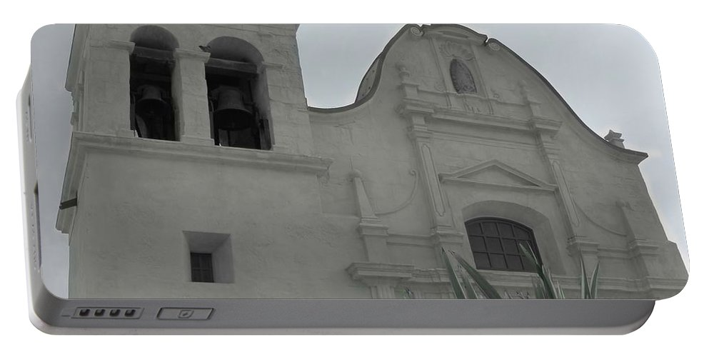 San Carlos Mission Portable Battery Charger featuring the photograph Serenity by Marianne Jimenez