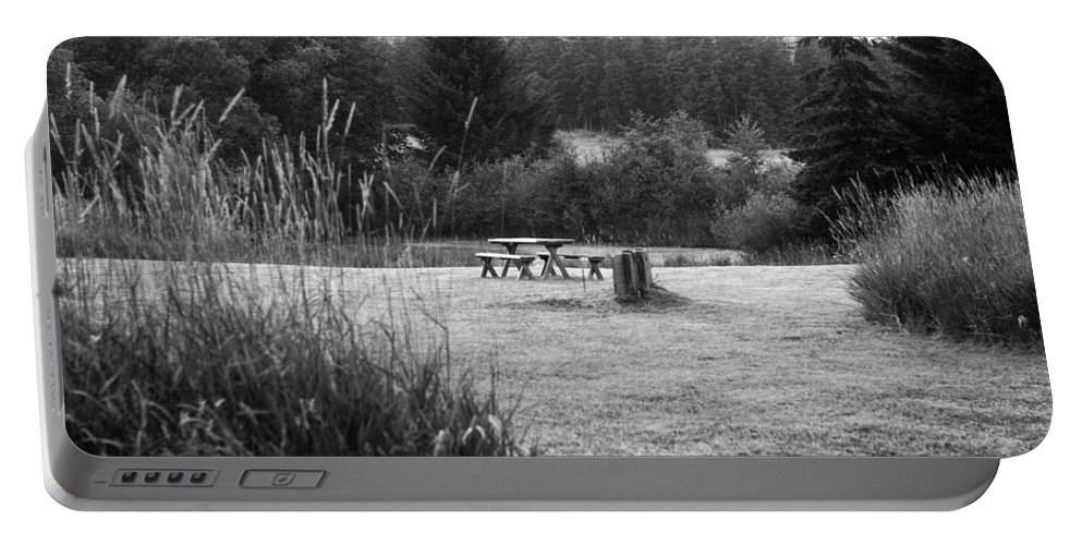 San Juan Islands Portable Battery Charger featuring the photograph Serenity Off Swan Road by Lorraine Devon Wilke