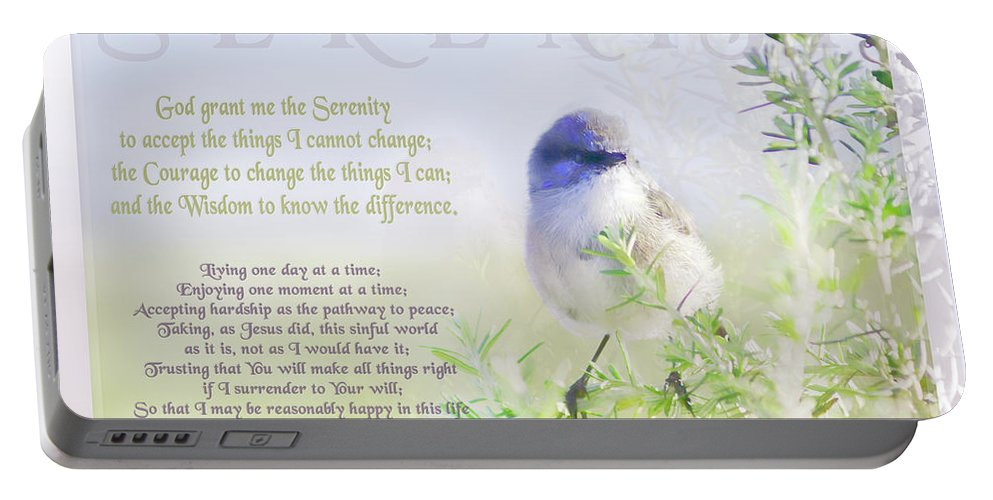 Animals Portable Battery Charger featuring the photograph Serenity Prayer by Holly Kempe
