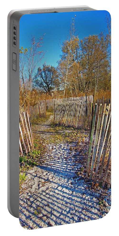 Festblues Portable Battery Charger featuring the photograph Serenity Trail.... by Nina Stavlund