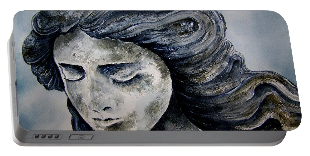 Stone Portable Battery Charger featuring the painting Set In Stone by Brenda Owen