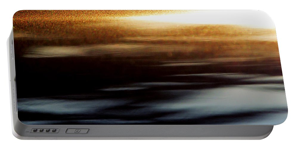 Gray Portable Battery Charger featuring the photograph Setting Sun by Prakash Ghai