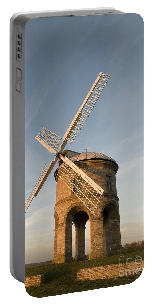 17th Portable Battery Charger featuring the photograph Seventeenth Century Mill by Anne Gilbert