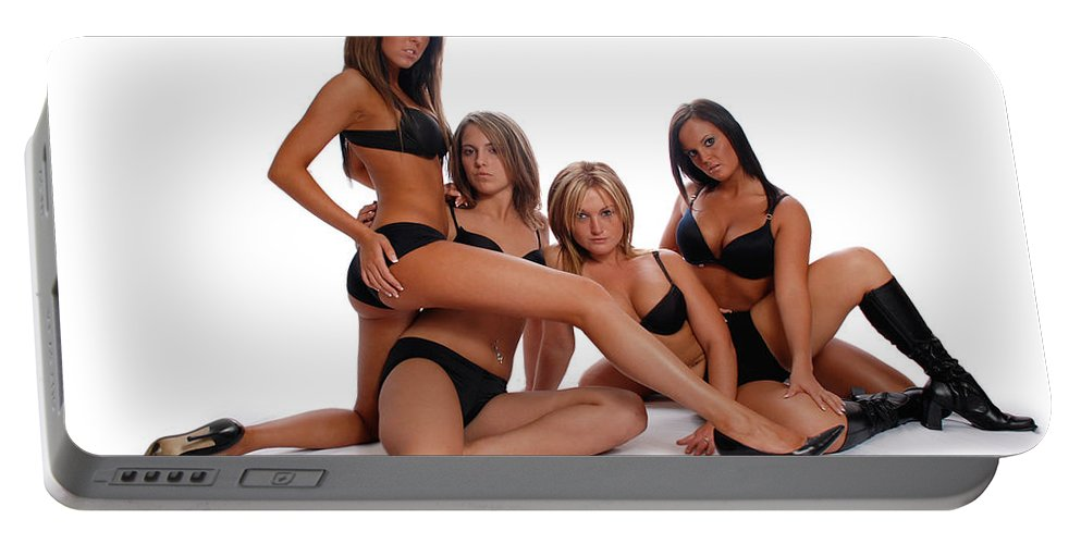 Models Portable Battery Charger featuring the photograph Sexy Times 4 by Jt PhotoDesign