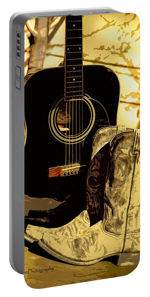Cowboy Boots Portable Battery Charger featuring the photograph Sh T Kickers by Kip Krause